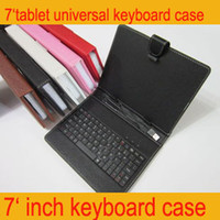 Wholesale Leather case USB keyboard cases smart cover bracket for inch VIA Q88 A13 tablet PC epad