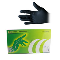 tattoo gloves - 100Pcs Black Disposable Tattoo Latex Gloves Sizes can choose