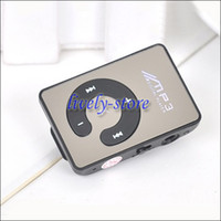 MOQ 100pcs Cute Mirror clip MP3 Player Card MP3 Support TF C...