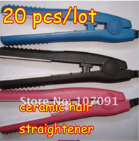 Wholesale Brand New Mini ceramic hair straightener Free DHL EMS Shipping
