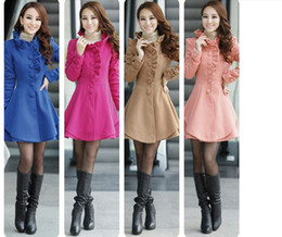 Wholesale Slim Long Design Woolen Womens Wool Coat Outerwear CM W0031