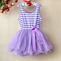 0-3 Months beaded bottle patterns - 2013 Baby Girl Lace Dress Purple Striped Infant Tutu Pattern dresse Layers Chiffon And Cotton Lin