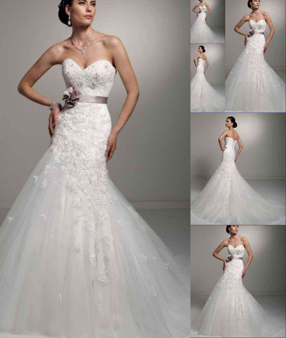 Wholesale 2013 stylish bling elegant heart shaped for Heart shaped mermaid wedding dresses
