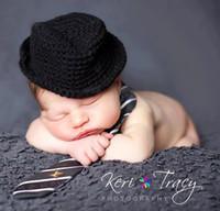 Wholesale Crochet Hat Newborn Baby Photography Prop Crochet Baby Hat Jazz Cap