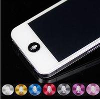 Wholesale Aluminum Home Button Sticker Paste Key Press Key Stick Colorful for iphone s