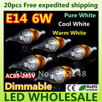 Wholesale 20x Dimmable W W E14 E27 High Power LED Candle Light Bulb Lamp Ceiling chandelier led lighting