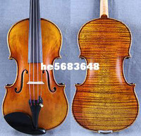 Wholesale Maestro Old Spruce Stradi Violin M2139 Powerful Tone Antique Varnish One PC Back