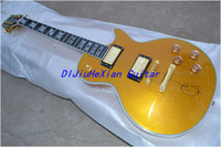 Wholesale New Arrival Gold burst color th the earth head EBONY OEM Electric Guitar