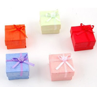 Wholesale Ring Gift BOX cm paper Multi colors packing box package case of ring earings jewery Gift Box