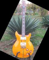 6 Strings santana - Best New Arrival Santana Model Electric Guitar In yellow Burst OEM Available