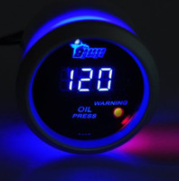 Wholesale 2 quot mm PSI Digital Blue LED Oil Pressure Press Gauge Meter Car Auto Motor