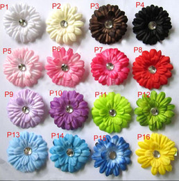 New ! 16 Colors 2inch Gerbera Daisy Children's Hair Accessories baby Girls Flower Clip