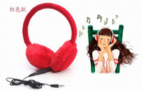 Wholesale plush warm music Stereo over head headphone earmuffs for winter Xmas