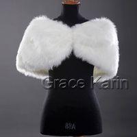 1pcs Hot Selling Bridal Shawl Winter Dress Faux Fur Wrap Shr...
