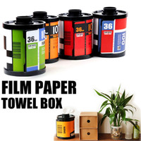 Wholesale Creative Film Paper Towel Box Napkin Tissue Tube Box Paper Holder Cool Gift