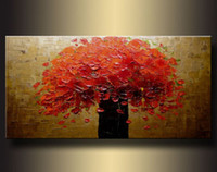 Wholesale Hot sell Huge WALL Modern Abstract on Canvas decorative Oil Painting Art flower