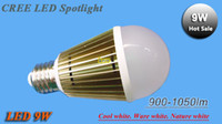 Wholesale 1PCS New Arrival CREE W Led Bulb E27 V LED globe Light bronze Ball Lamp lm