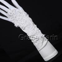 Free shipping! Bridal Wedding flower Gloves Evening Opera Pa...
