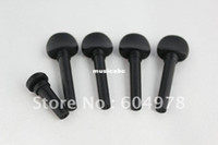 Wholesale Set of Top Model ebony wood violin Tuning Pegs Endpin