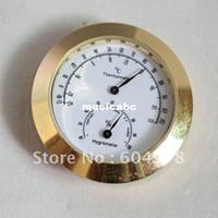Guangdong China (Mainland) Yes violin parts Vintage Wind Clock Banjo Violin Weather Station Barometer Thermometer Humidity