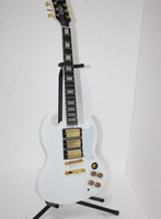Solid Body 6 Strings Mahogany Wholesale - free shipping guitar SG white color style electric guitar 3 pickup