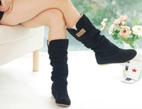 Wholesale Hot Items Newest winter woolen lady snow boots sexy black orange brown women boots