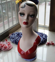 Wholesale Fiberglass hand painted mannequin head for jewelry amp hat