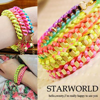 Wholesale Factory Offer Fluorescence Bracelet Neon Line Bracelet Friendship Bracelet