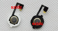 flex caps - 300pcs Home Button Flex Cable With Key Cap assembly for iPhone Replacement Parts Free DHL EMS