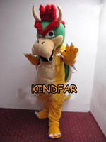 Angel bowser costume - Super Mario Bros King Bowser Mascot Costume Adult Size Halloween Cartoon Party Outfits Fancy Dress