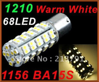 Best 1156 BA15S 68 1210 SMD LED Warm White Turn Tail Brake Stop Light Bulb Lamp 10pcs lot free shipping