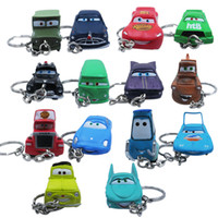 Wholesale 2 Sets NEW Popular x Cute Cartoon Cars PVC Figure KeyChain Set Party Gift