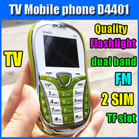 Wholesale Promotion TV cell phone dual band Dual sim Unlocked FM flashlight Mp3 Camera TF slot Quality