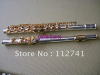 Wholesale New Arrival Advanced Carved Silver body gold key C KEY flute With hard case