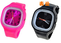 Wholesale 10 ss com Multicolor Unisex watches Slicone Jelly Watch