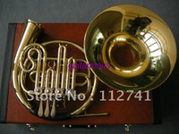 Wholesale Musical instruments Advanced key French Horn Golden With Case Best
