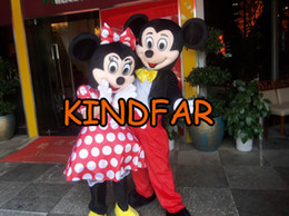 Wholesale amp Minnie Mascot Costume Adult Size Halloween Fancy Dress Cartoon Character Outfit Suit