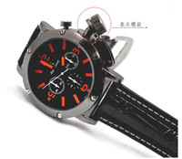 Wholesale new design Hands Men s Wrist Quartz Watch with Black Dial Belt W0002