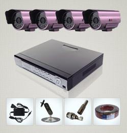 Caméra pour la sécurité cctv en Ligne-Caméra de surveillance DVR 8CH H.264 4 Jour Nuit intempéries Système de sécurité CCTV du magasin de kakacola