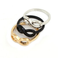 Wholesale New arrive Fashion Punk Simple Style Metal infinite infinity sign Ring for party dress Valentine s
