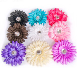 Wholesale New Cute Baby Gerbera daisy baby hair bow clip flower hairpins CPAM