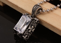South American bling jewelry - top fashion titanium stainless steel zircon pendant necklace bling hip hop men s jewelry