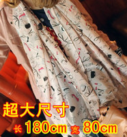 Wholesale Hot Ms the Korean edition scarf Flax lipstick and high heels graffiti sunscreen shawl long s