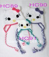 Skullies & Beanies beani babies - Cute baby cat modelling Ear Flap Handmade Knitn Crochet hat children s beani
