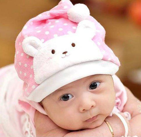 Free Sample ! Baby Hat Baby Headband 2016 New style Dot Bear Christmas hats Children's P