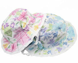 Wholesale bucket baby hat print sun shading hat butterfly child hat