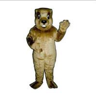 Costum Made animal groundhog - Quick Mascot Costume New Cute Groundhog Mascot Costume Adult Evening Dress Halloween