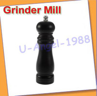 Wholesale New Vintage Manual Wooden Pepper Spice Salt Grinder Mill