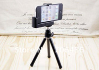 Wholesale portable camera mount phone freely adjust the tripod mini mobile phone holder