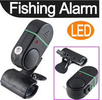 Wholesale LED Light Electronic Fish Bite Strike Alarm Bell Alert Clip On Fishing Rod Pole